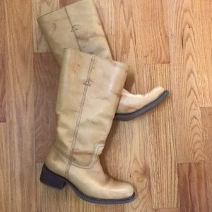 Gianna Bini boots mustard leather 8.5 below knee